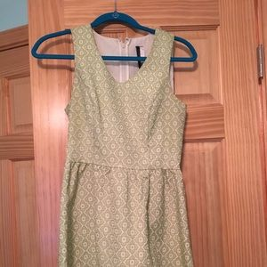 Green dress with flower detail
